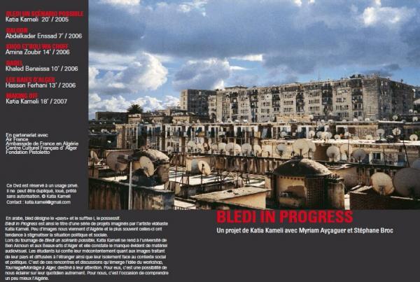 Vue de la jaquette du Dvd Bledi in Progress 2006-2007
